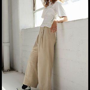 FP wide-leg khaki trouser
